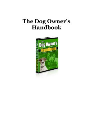 The dog owners hendbook